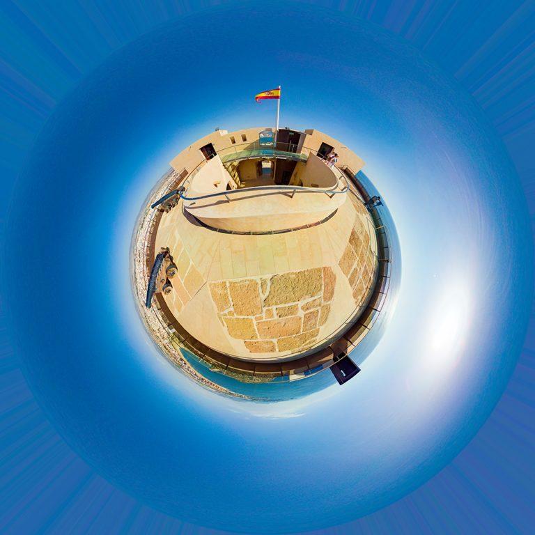 Visita virtual para Google Street View del Castillo de San Juan de las Águilas en Águilas (Murcia)