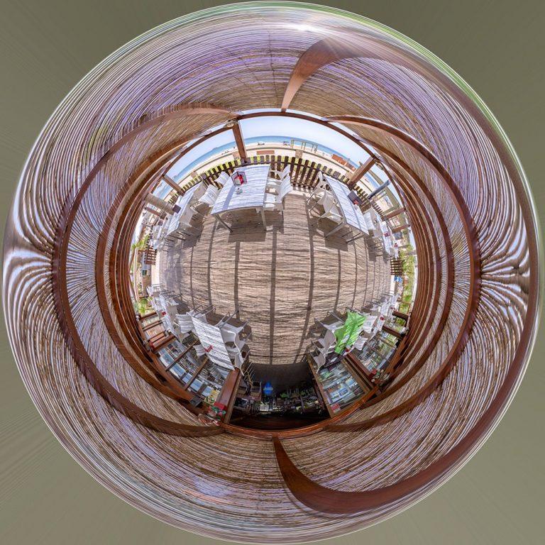Visita virtual para Google Street View del Chiringuito 'Canal Náutico' en San Juan de los Terreros (Almería)