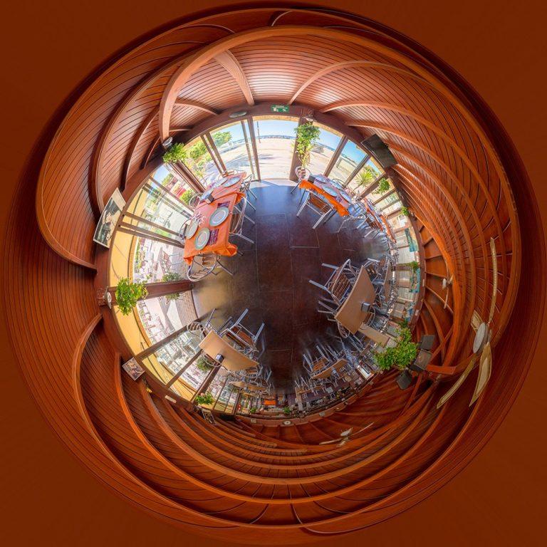 Visita virtual para Google Street View del Chiringuito 'Salas' en San Juan de los Terreros (Almería)